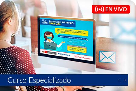 Curso Especializado Trámite Documentario Electrónico y la Atención Eficiente al Ciudadano del 29 de agosto al 19 de septiembre de 2020